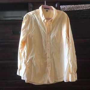 Long sleeve button up in yellow